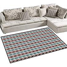 "Afghan Room Home Bedroom Carpet Floor Mat Classical Tribal Eye Dazzler Pattern Colorful Ethnic Illustration Timeless Motifs Floor Mat Pattern 40""x55"" Multicolor"