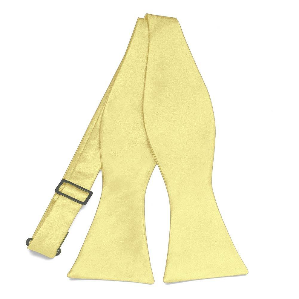 TieMart Butter Yellow Self-Tie Bow Tie