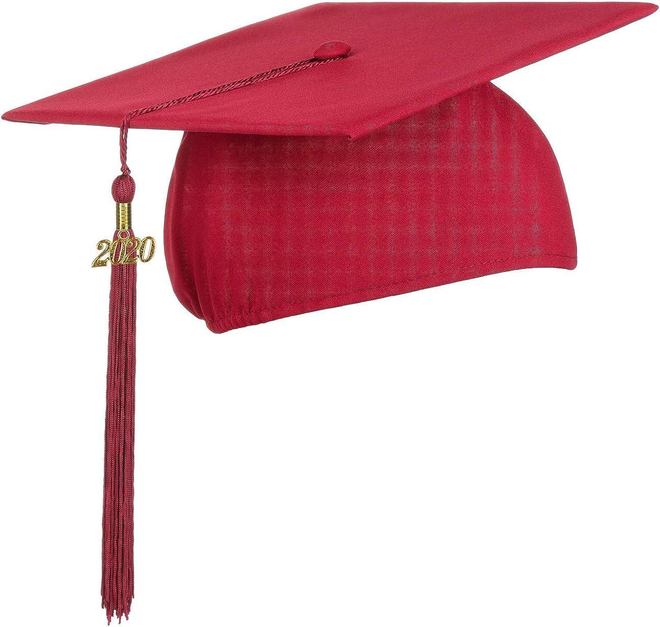 Lierys Birrete Colgante 2020, Sombrero de graduación, Celebrar el Fin de Estudios en la Universidad o el Instituto. Sombrero Universitario en Negro, Azul, Rojo, Talla única