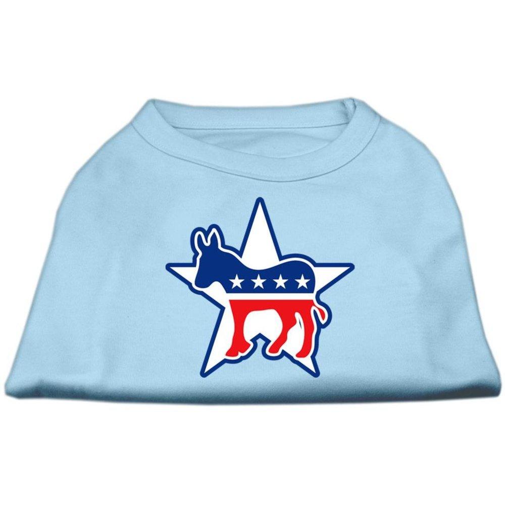 Dog   Cat   Pet Charms Democrat Screen Print Shirts Baby bluee XS (8)