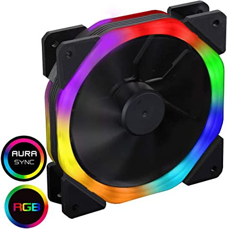 CiT HALOCOSMIC 120mm Halo Dual Ring Rainbow RGB Ventilador con 5V ...