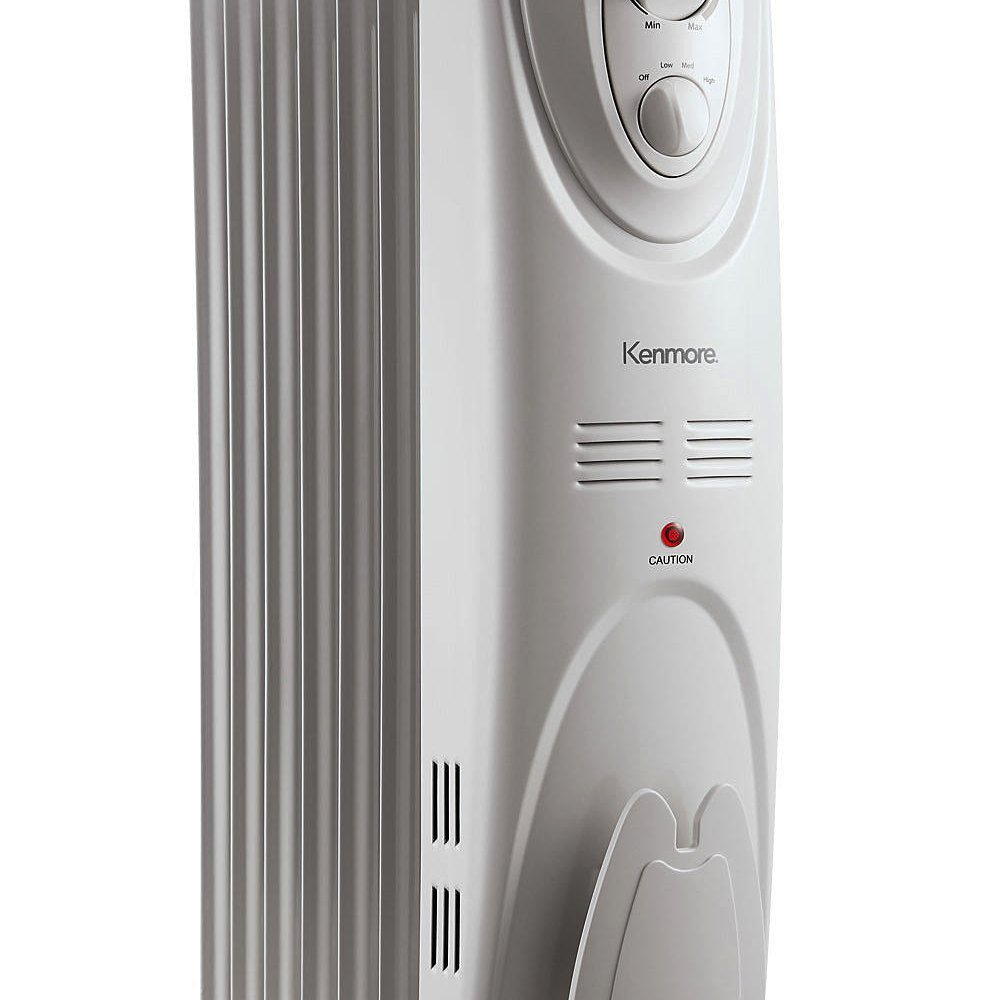 Amazon.com: Kenmore Oil-filled Radiator Heater White - Large Room ...