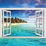 Ghaif Wall mount 3d emulation windows landscape art marine lavender 9060cm0999