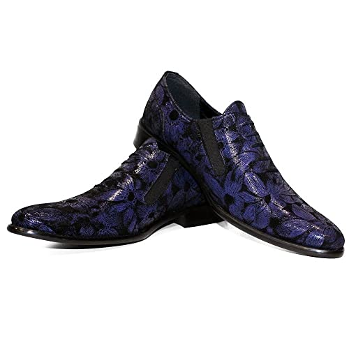 Modello Squidofer - Cuero Italiano Hecho A Mano Hombre Piel Azul Marino Mocasines y Slip-Ons Loafers - Cuero Cuero Suave - Ponerse: Amazon.es: Zapatos y ...
