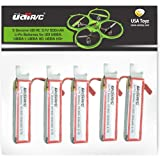Force1 Drone Batteries - 3.7V 500mAh Rechargeable Li-Po Batteries Spare Parts for Drones UDI U818A, U818A-1, U818A HD…