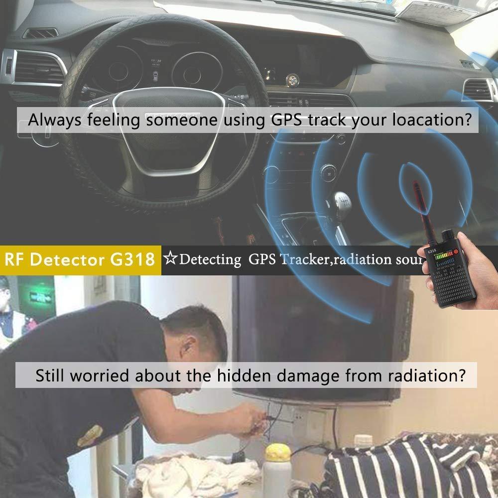 Detector de Señal Anti-Espía Detector de señal GPS Detector de Señal Espía Detector de Cámara Inalámbrica Detector de RF Buscador de Dispositivos gsm: ...