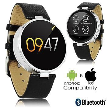 2017 redondo piel Deluxe Smartwatch sincronización Bluetooth ...