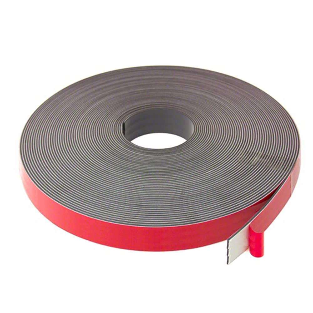 5m Length Magnet Expert/® 25mm wide x 2.5mm thick Foam Adhesive Magnetic Tape Polarity A