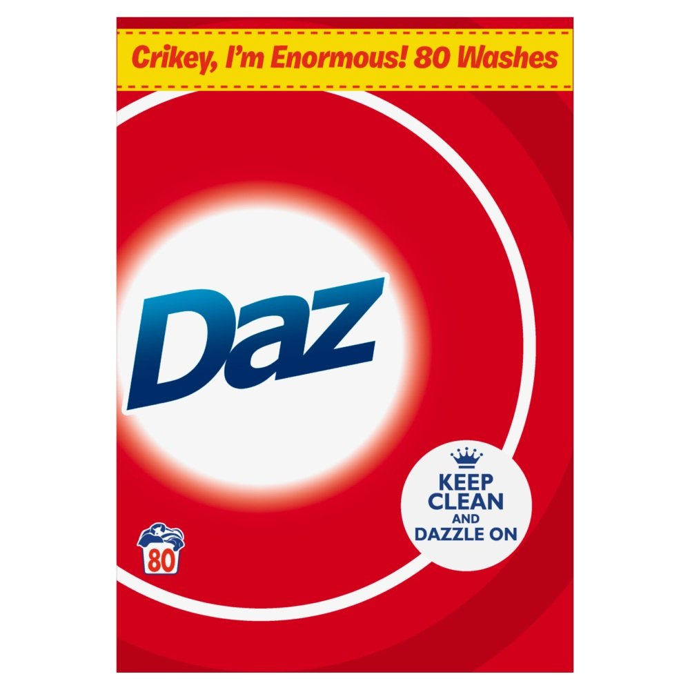 Daz Regular Washing Powder, 5.2 kg 108144508