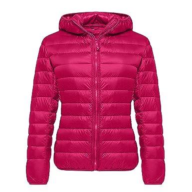 586a93ee0c6 SWISSWELL Down Jacket Winter Outdoor Ladies Coats Long Sleeve Wine Red 2XL