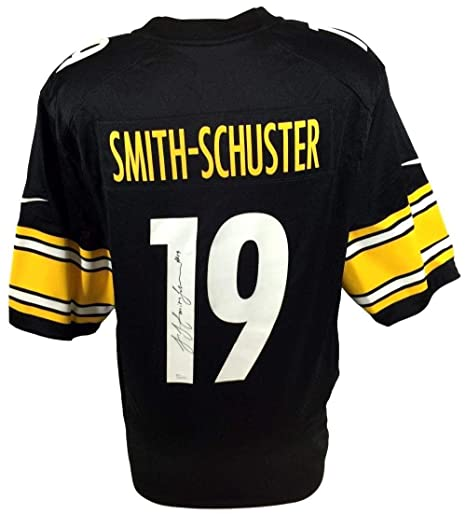 Image Unavailable. Image not available for. Color  Autographed Juju Smith-Schuster  Jersey - Black ... 98a4bf004