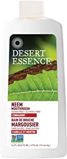 product image for Desert Essence Natural Neem Mouthwash - Cinnamint Flavor - 16 Fl Oz - Reduce Plaque Buildup - Tea Tree Oil - Neem Leaf Extract - Peppermint - Complete Oral Care - Refreshes Breath - Aloe