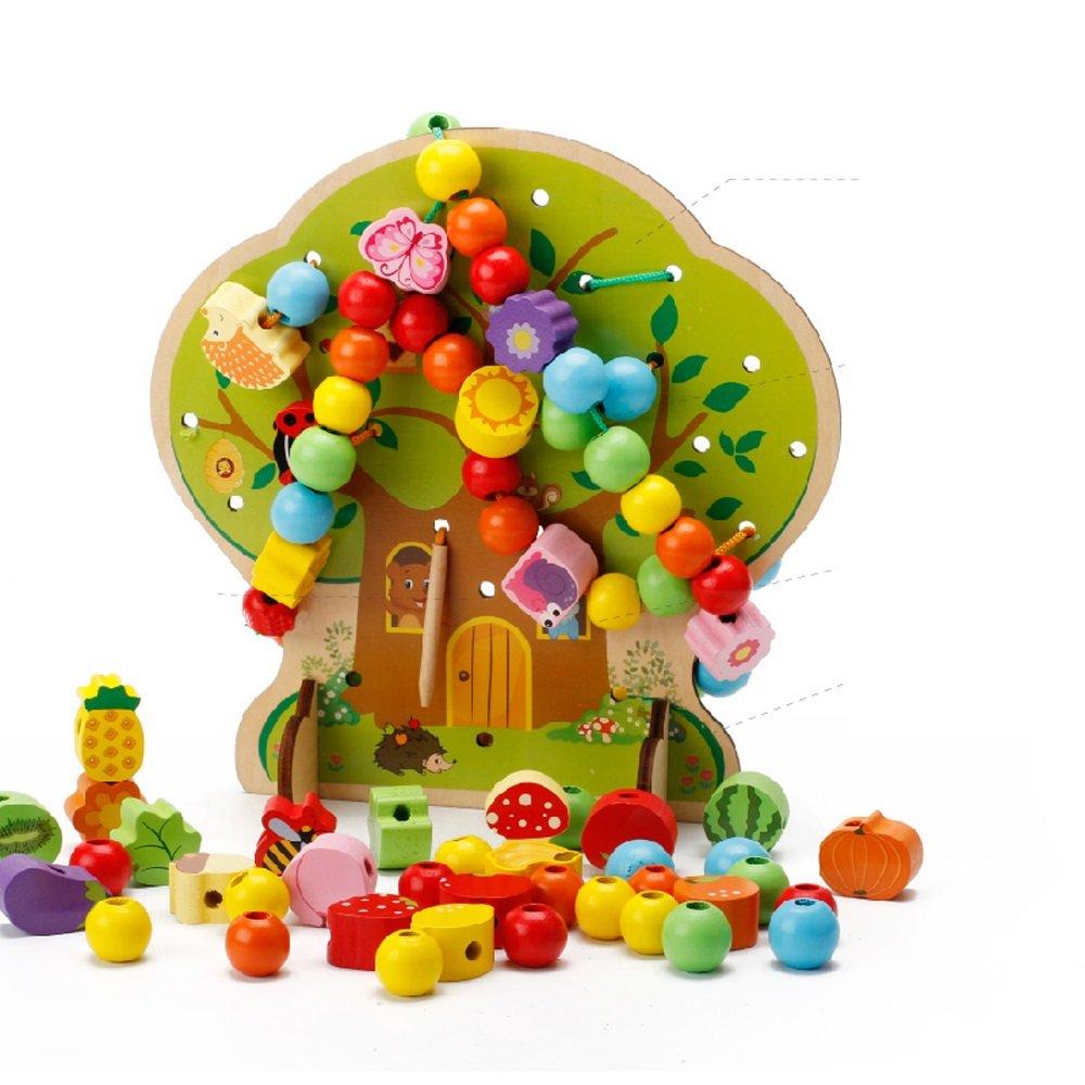 Hölzernes hölzernes Kinderlandtier-Korn-Rahmen-Achterbahn-Labyrinth-Spielzeug (Farbe : B)