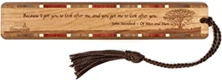 product image for Personalized John Steinbeck of Mice and Men Quote, with Prairie - Engraved Wooden Bookmark with Tassel - Search B01GQF9KAS for Non-Personalized Version
