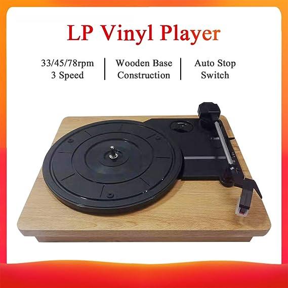 Bulufree Reproductor de discos de estilo vintage para discos de ...