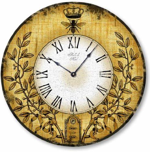 Fairy Freckles Studios Item C2119 Vintage Style Honeybee Clock 12 Inch Diameter