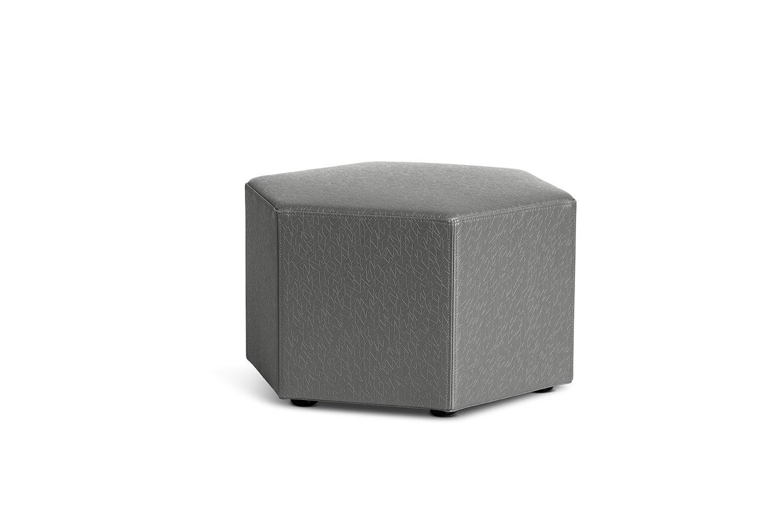 Logic Furniture HONEYCA12 Honeycomb Ottoman, 12'', Carbonite