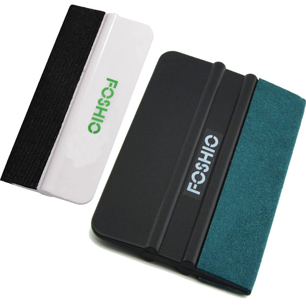 FOSHIO Kit de herramientas de instalació n de vinilo automotriz 3 en 1 Incluye cortador de seguridad Snitty con pasador de fieltro negro y borde de fieltro de microfibra para instalació n de pelí cula