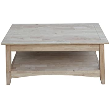 International Concepts OT 4TCL Bombay Tall Coffee Table, Unfinished