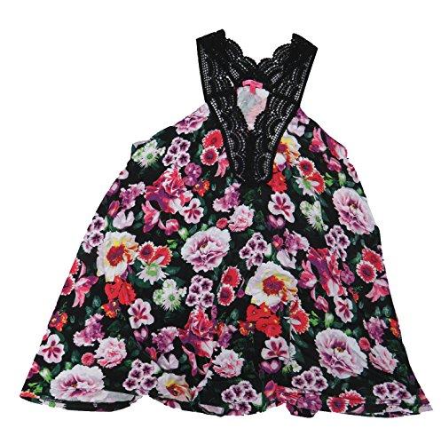 (Betsey Johnson Chemise, Nightgown/Sleepwear, Size Medium, Black Floral)