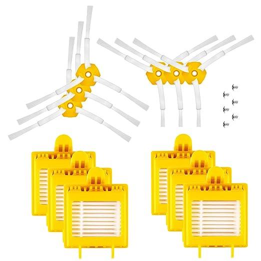 ENERGUP Accesorios de Filtro de Repuesto para IRobot Roomba 700 720 750 760 770 775 776 776p 780 782 782e 785 786 786p Repuestos de escobillas de ...