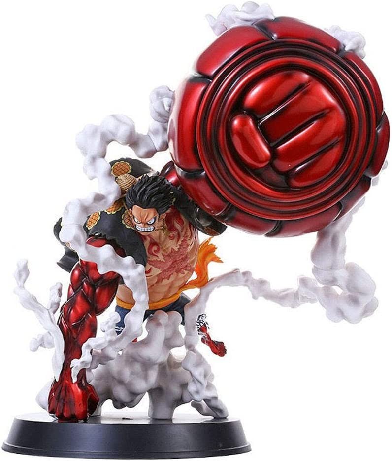 AGOOLZX 25 cm Anime Cartoon One Piece King and Country Luffy Statue Character Super Big Fourth Gear Big Hand Ape King Gun Luffy Figure GK Model Decoration Gift Statue Collector PVC Sculpture Crafts