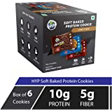 HYP Protein Cookies Double chocolate, Coconut Choco Chip, Oatmeal Raisin Pack of 6 - (42 g x 6)