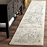 Safavieh Evoke Collection EVK515F Vintage Beige and Turquoise Runner (2' x 10')