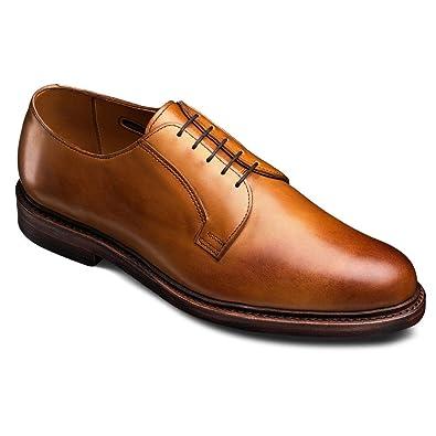 Mens Allen Edmonds Leeds 2.0  Brown Pebbled Leather Blucher Size 10.5D Shoes