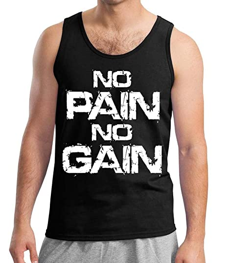 Amazon.com  No Pain No Gain Men s tank Top Black S-3XL (L 1769af0de15c