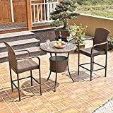 Bar Stools for Sale Near Me Item Valley Set of Two Outdoor Rattan Wicker Bar Chair Seat Patio Furniture with Armrest