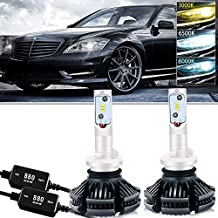 880 LED Headlight Bulbs Conversion Kit CANBUS Error Free 3000K 6500K 8000K Free DIY PHI-ZES 12000LM/set Driving Fog Lights Replace Halogen Xenon HID Bulb +1Pair DECODER,1 Yr Warranty