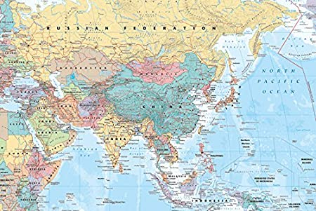 Gb eye 61 x 915 cm map asia middle east maxi poster multi colour gb eye 61 x 915 cm map asia middle east maxi poster multi publicscrutiny Choice Image