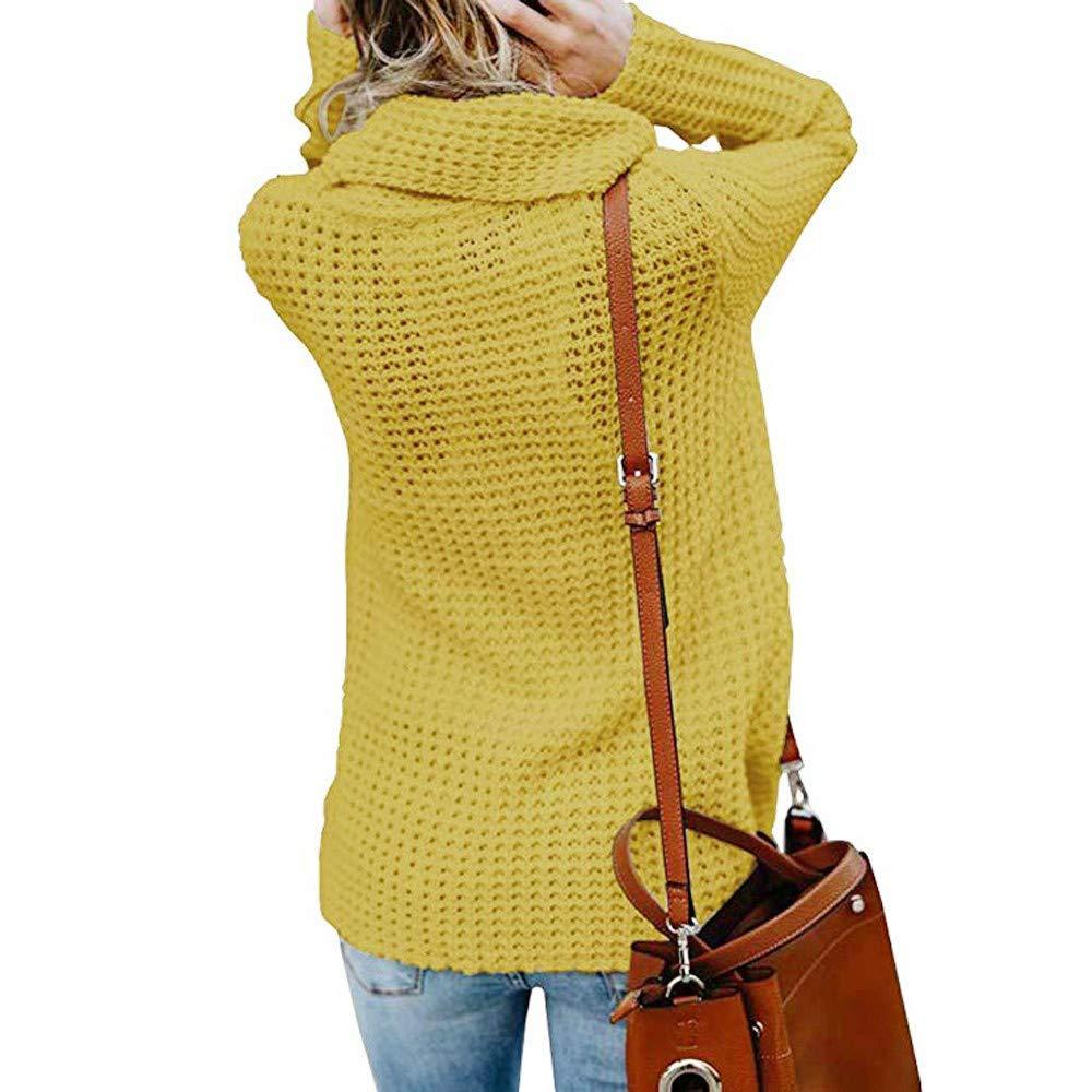 PinkLu Damen Winterjacke Warm Strickjacke Rollkragen Cardigan Strickpullover Casual Wrap Wickel Pullover Sweater Mehr Farbe S//M//L//XL//XXL
