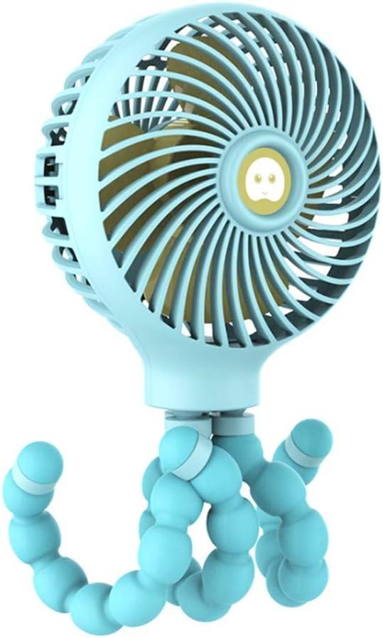 YWLINK♥♥PequeñO Ventilador PortáTil♥Dibujos Animados Creative Octopus 3 Mode Handheld Recargable 11 Horas De Trabajo Ventilador De Enfriamiento Enfriador De Aire: Amazon.es: Hogar