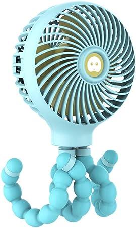 YWLINK♥♥PequeñO Ventilador PortáTil♥Dibujos Animados Creative Octopus 3 Mode Handheld Recargable 11 Horas De Trabajo Ventilador De Enfriamiento Enfriador De Aire ...