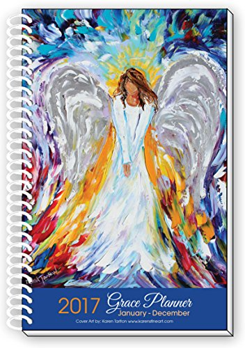 2017 Angel Art Inspirational Christian Planner, Daily Weekly Monthly, January To December Calendar Year, 6x9
