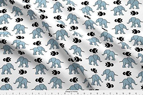 (Spoonflower Elephant Fabric - Zoo Geometric Elephant Arrow Elephant Grey Elephant Baby Elephant Modern Elephant by Peek A Boo Panda Printed on Cotton Spandex Jersey Fabric by The Yard)