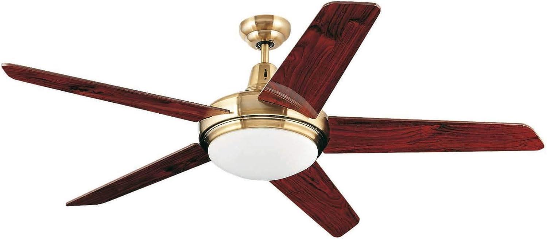 Ventilador de techo OVNI Oro Envejecido Incluye lámpara 132cm de Faro