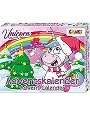 CRAZE Adventskalender enhörning söt enhörning figurer julkalender 2021 för flickor och pojkar barn leksakskalender överraskningar 24706