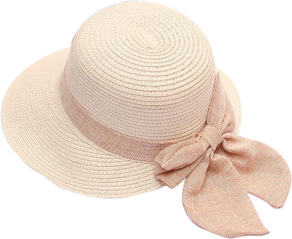 TENDYCOCO Moda Mujer Sombrero Bowknot Playa Protecci/ón Solar Sombreros Verano Sombrero de Paja para Mujer Azul Oscuro Talla M