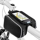 Fahrrad Rahmentaschen, Ubegood Fahrrad Rahmentaschen Handyhalter Fahrrad Tasche mit Doppeltasche für iPhone 6s Plus/6 Plus/Samsung s7 edge andere bis zu 5,5 Zoll Smartphone