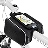 Bike Pouch, Ubegood Universal Portable Waterproof Bike Tube Bag Double Pouch Holder for iPhone 6s Plus/6 Plus/Samsung s7 edge with other up to 5.5 inch smartphone