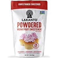 Lakanto Classic Monkfruit Powdered 2:1 Sustituto de Azúcar Glass
