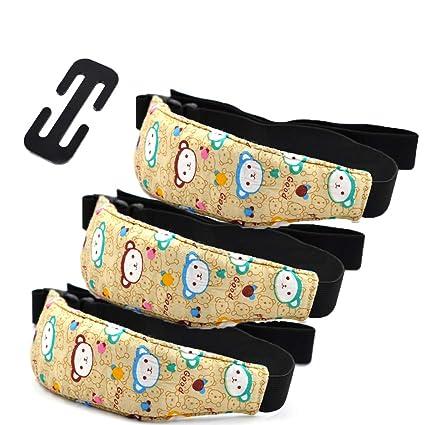 Soporte de Cabeza para Niños, Rymall Sujeta Cabezas Coche para Niños, Arnés Cinturón Ajustable