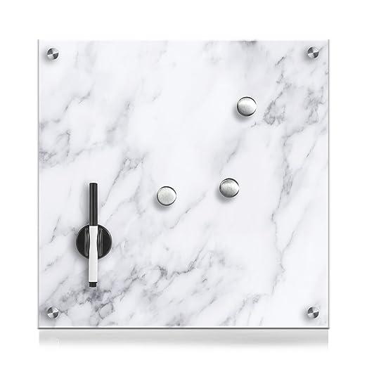 114 opinioni per Zeller 11651Lavagnetta in vetro, legno, Plastica, Marmor, 40 x 40 cm