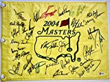 Masters golf flag signed 30 champs Jordan Spieth Jack Nicklaus Arnold Palmer augusta national beckett loa