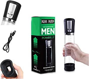 Powerful Sucking Pump for Men Male, Accurate Pressure Meter, Vacuum Tube with Clear Scale, Easy to Control The Suction