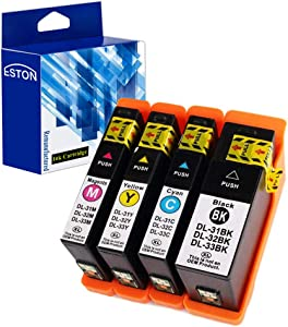 ESTON Compatible Ink Cartridge Replacement for Dell Series 31 Black and Series 31 Color for Dell V525w/ V725w All-in-One Printer (Black,Cyan,Magenta,Yellow - 4Pack)