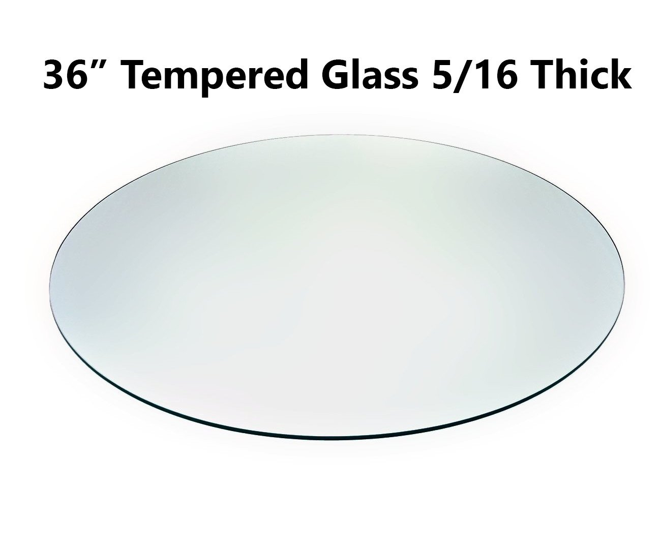 "Tempered Glass Table Top with Rounded Edge 36"" Round 5/16"" Thickness"